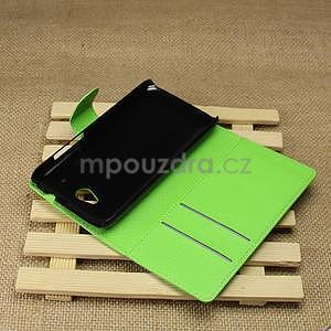 Peněženkové pouzdro pro HTC Desire 601- zelené - 5