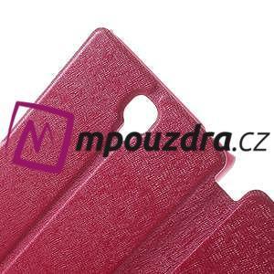 Peněženkové pouzdro na Xiaomi Hongmi Note- růžové - 5