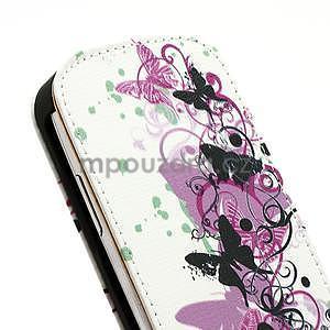 Flipové PU kožené pouzdro pro Samsung Galaxy S3 mini / i8190 - motýlek - 5