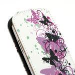 Flipové PU kožené pouzdro pro Samsung Galaxy S3 mini / i8190 - motýlek - 5/6