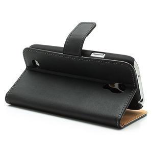 Peněženkové PU kožené pouzdro na Samsung Galaxy S4 mini i9190- černé - 5