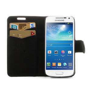 Peněženkové pouzdro na Samsung Galaxy S4 mini i9190- puntíkaté černé - 5