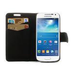 Peněženkové pouzdro na Samsung Galaxy S4 mini i9190- puntíkaté černé - 5/7