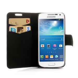 Peněženkové pouzdro na Samsung Galaxy S4 mini i9190- puntíkaté bílé - 5
