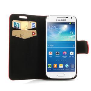 Peněženkové pouzdro na Samsung Galaxy S4 mini i9190- puntíkaté červené - 5