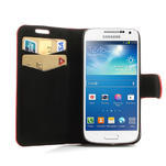 Peněženkové pouzdro na Samsung Galaxy S4 mini i9190- puntíkaté červené - 5/7