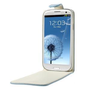 Flipové pozdropro Samsung Galaxy S3I i9300 - světle-modré - 5
