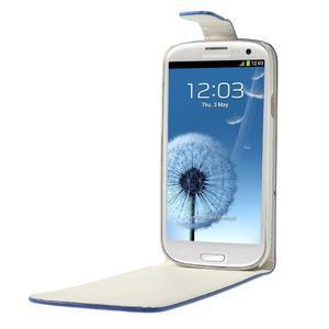 Flipové pozdropro Samsung Galaxy S3 i9300 - modré - 5