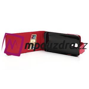 Flipové pouzdro pro Samsung Galaxy S4 i9500- červené - 5