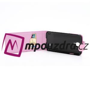 Flipové pouzdro pro Samsung Galaxy S4 i9500- světle-růžové - 5