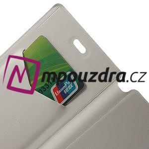 Peněženkové pouzdro na Xiaomi Mi3- bílé - 5