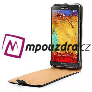 Flipové PU kožené pouzdro na Samsung Galaxy Note 3- černé - 5