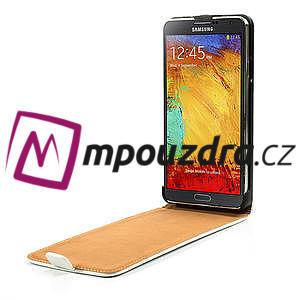 Flipové PU kožené pouzdro na Samsung Galaxy Note 3- bílé - 5