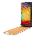 Flipové PU kožené pouzdro na Samsung Galaxy Note 3- bílé - 5/6
