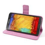 Peněženkové pouzdro na Samsung Galaxy Note 3- fiaolový květ - 5/7