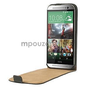 Flipové pouzdro pro HTC one M8- černé - 5