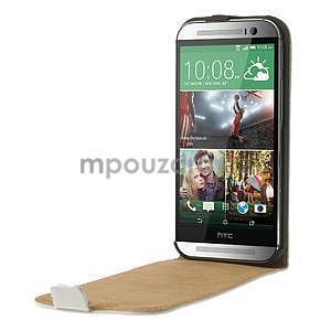 Flipové pouzdro pro HTC one M8- bílé - 5