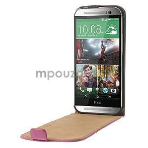 Flipové pouzdro pro HTC one M8-růžové - 5