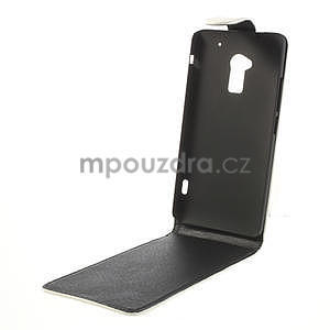 Flipové pouzdro HTC one Max- bílé - 5