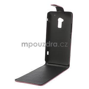 Flipové pouzdro HTC one Max- růžové - 5
