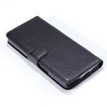 Peněženkové PU kožené pouzdro na Alcatel One Touch Idol OT-6030D- černé - 5/6