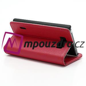 Peněženkové pouzdro na LG Optimus L7 P700 - červené - 5