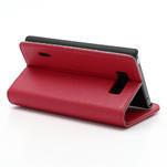 Peněženkové pouzdro na LG Optimus L7 P700 - červené - 5/7