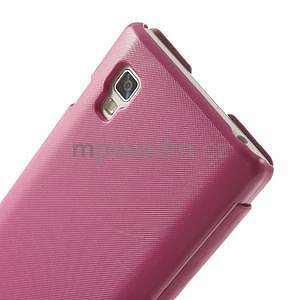 Flipové pouzdro pro LG Optimus L9 P760- růžové - 5