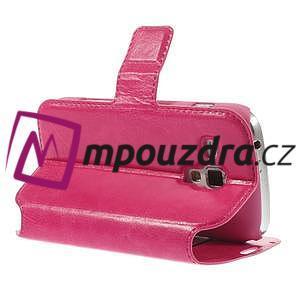 Peněženkové pouzdro na Samsung Trend plus, S duos - růžové - 5