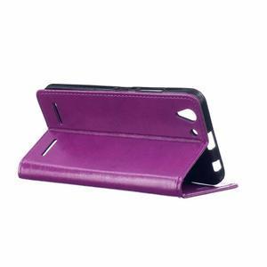 Knížkové PU kožené pouzdro na Lenovo Vibe K5 / K5 Plus - fialové - 5