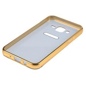 Odolný obal s kovovým obvodem na Samsung Galaxy J5 (2016) - zlatý - 5