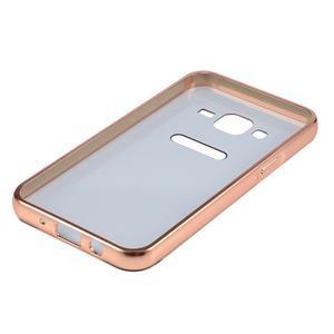 Odolný obal s kovovým obvodem na Samsung Galaxy J5 (2016) - růžovozlatý - 5