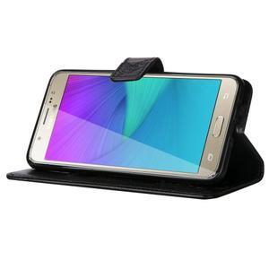 Magicfly PU kožené pouzdro na Samsung Galaxy J5 (2016) - černé - 5