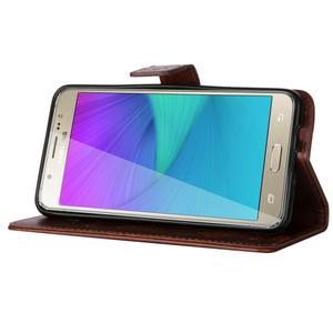 Magicfly PU kožené pouzdro na Samsung Galaxy J5 (2016) - hnědé - 5