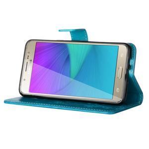 Magicfly PU kožené pouzdro na Samsung Galaxy J5 (2016) - modré - 5