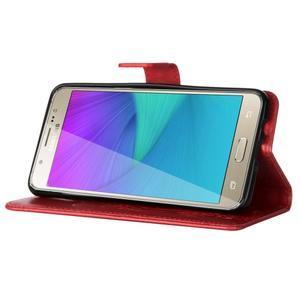 Magicfly PU kožené pouzdro na Samsung Galaxy J5 (2016) - červené - 5