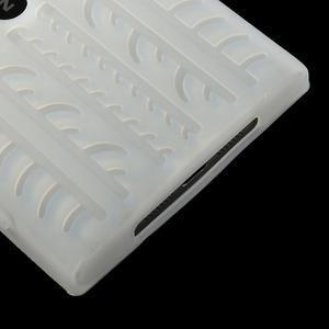 Silokonové PNEU pouzdro na Nokia Lumia 920- bílé - 5