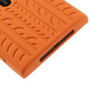 Silokonové PNEU pouzdro na Nokia Lumia 920- oranžové - 5