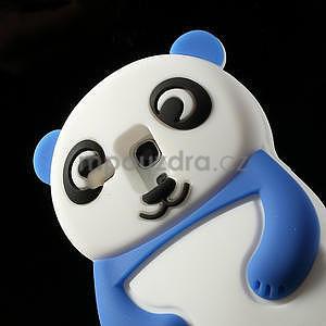 3D Silikonové pouzdro pro Samsung Galaxy S3 mini / i8190 - vzor modrá panda - 5