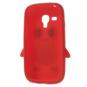 Silikonový TUČŃÁK pouzdro na Samsung Galaxy S3 mini i8190- červený - 5