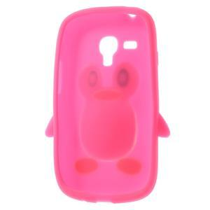 Silikonový TUČŃÁK pouzdro na Samsung Galaxy S3 mini i8190- růžový - 5