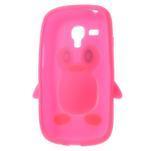 Silikonový TUČŃÁK pouzdro na Samsung Galaxy S3 mini i8190- růžový - 5/7