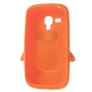 Silikonový TUČŃÁK pouzdro na Samsung Galaxy S3 mini i8190- oranžový - 5