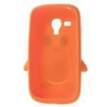 Silikonový TUČŃÁK pouzdro na Samsung Galaxy S3 mini i8190- oranžový - 5/7