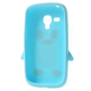 Silikonový TUČŃÁK pouzdro na Samsung Galaxy S3 mini i8190- světlemodrý - 5