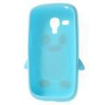 Silikonový TUČŃÁK pouzdro na Samsung Galaxy S3 mini i8190- světlemodrý - 5/7