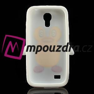 Silikon 3D TUČŇÁK pro Samsung Galaxy S4 mini i9190- bílý - 5
