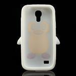 Silikon 3D TUČŇÁK pro Samsung Galaxy S4 mini i9190- bílý - 5/5