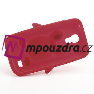 Silikon 3D TUČŇÁK pro Samsung Galaxy S4 mini i9190- červený - 5