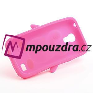 Silikon 3D TUČŇÁK pro Samsung Galaxy S4 mini i9190- růžový - 5